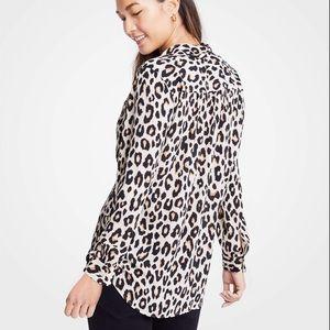 Like new Ann Taylor Leopard Print Camp Shirt